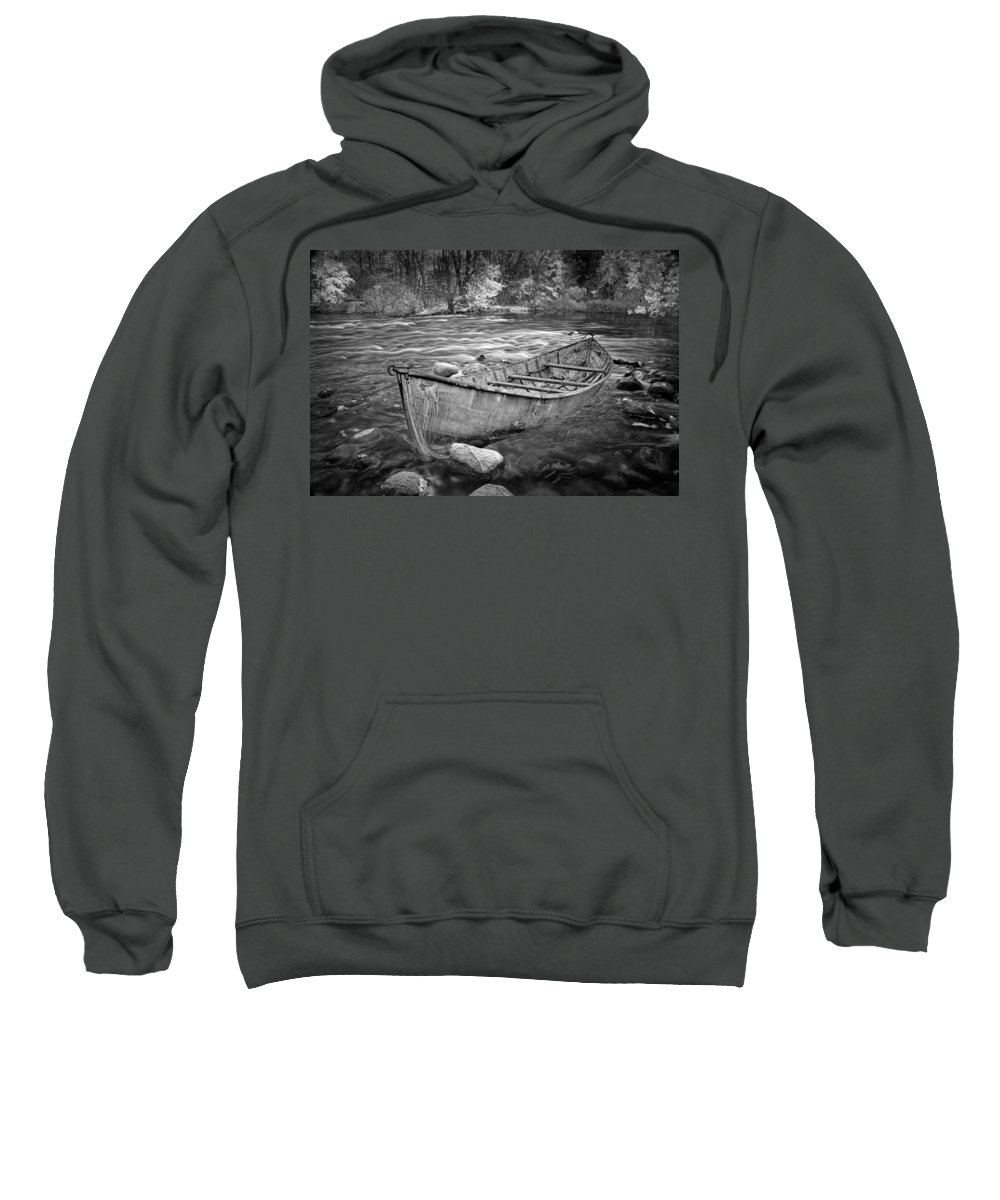 Art Sweatshirt featuring the photograph Canoe On The Thornapple River by Randall Nyhof