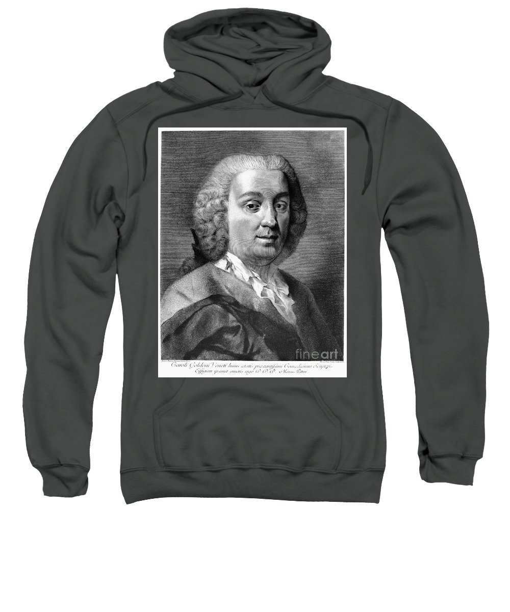 18th Century Sweatshirt featuring the photograph Carlo Goldoni (1707-1793) by Granger