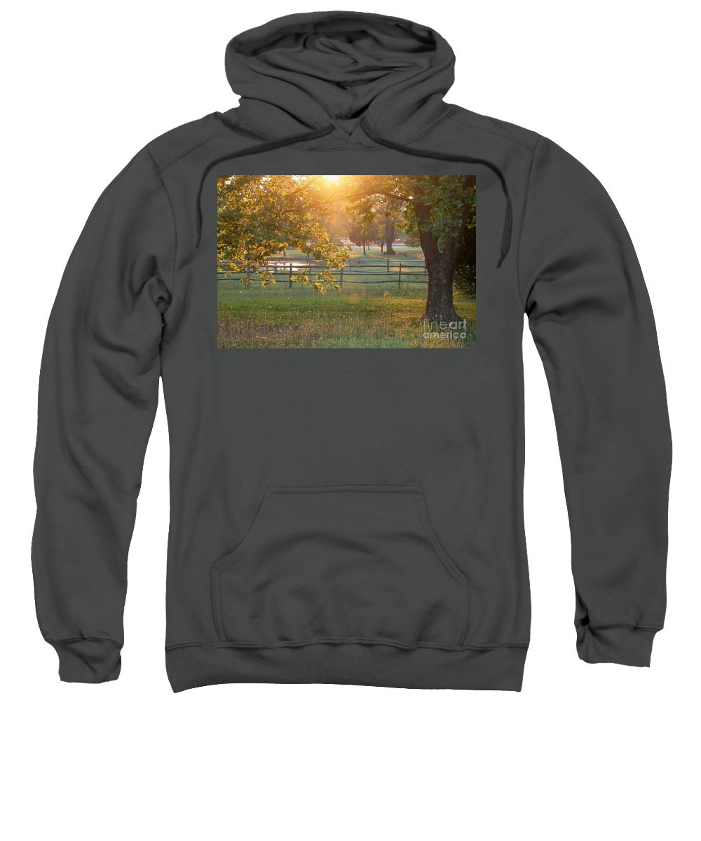 Landscape Sweatshirt featuring the photograph Day Is Done by Living Color Photography Lorraine Lynch
