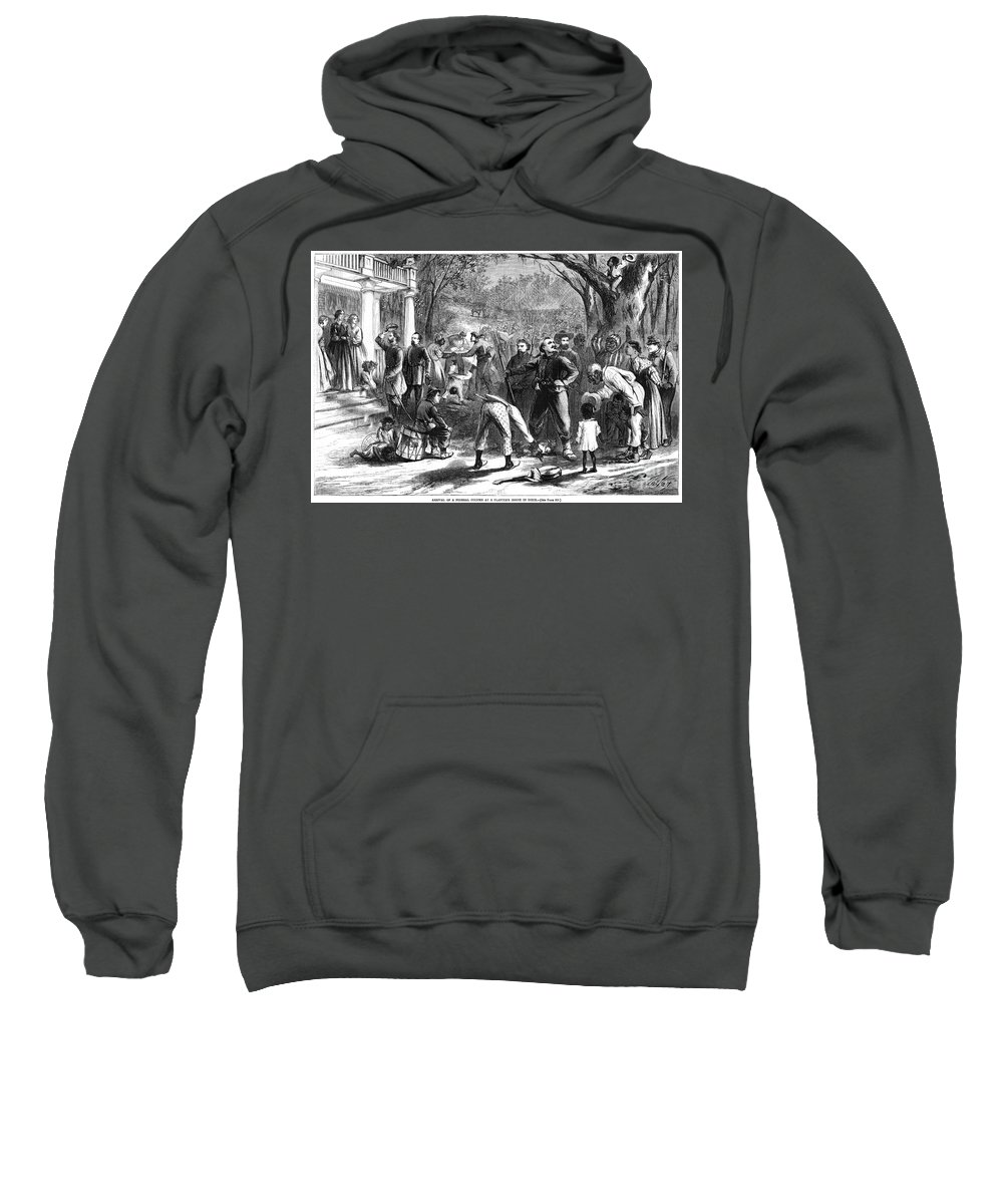 1863 Sweatshirt featuring the photograph Emancipation, 1863 by Granger
