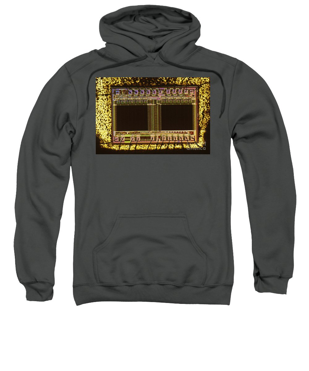 Erasable Programmable Read-only Memory Sweatshirt featuring the photograph Eprom by Michael W. Davidson