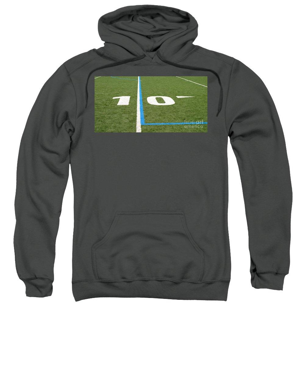 American Sweatshirt featuring the photograph Football Field Ten by Henrik Lehnerer
