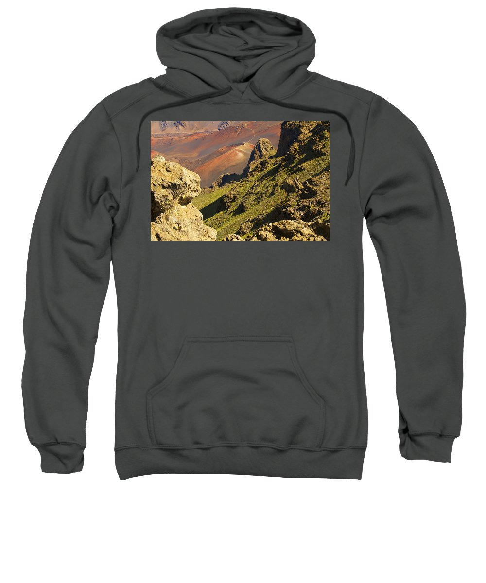 Altitude Sweatshirt featuring the photograph Haleakala National Park by Ron Dahlquist - Printscapes