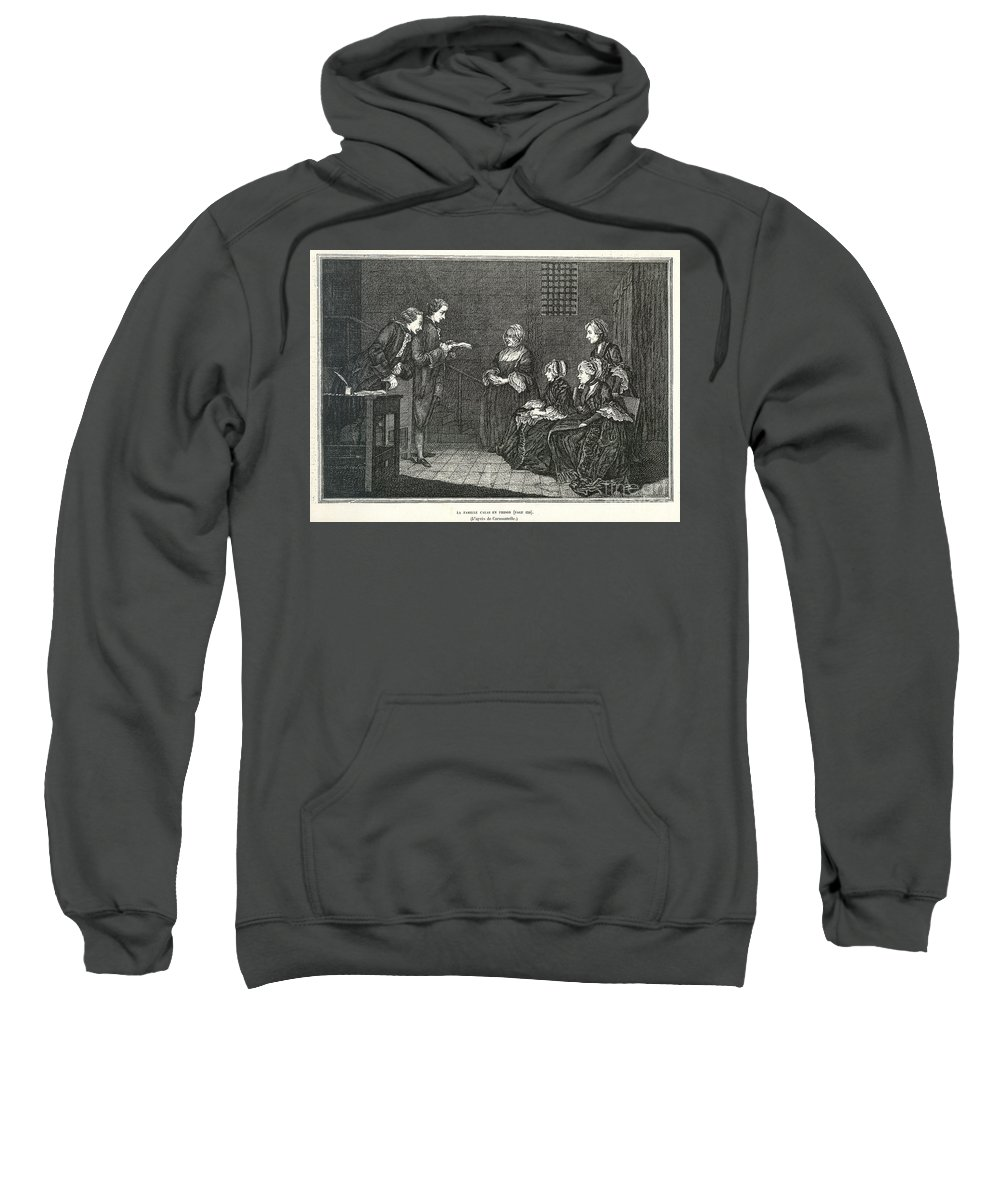 18th Century Sweatshirt featuring the photograph Jean Calas (1698-1762) by Granger