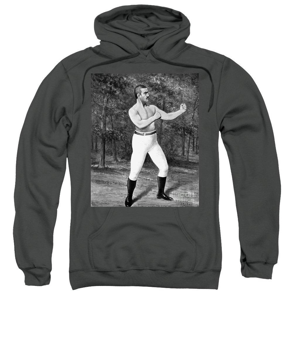 1887 Sweatshirt featuring the photograph John L. Sullivan (1858-1918) by Granger