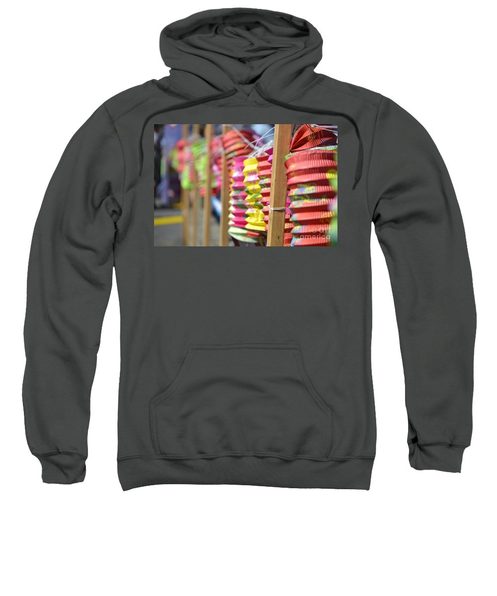Dragon Boat Races Sweatshirt featuring the photograph Lanterns by Traci Cottingham