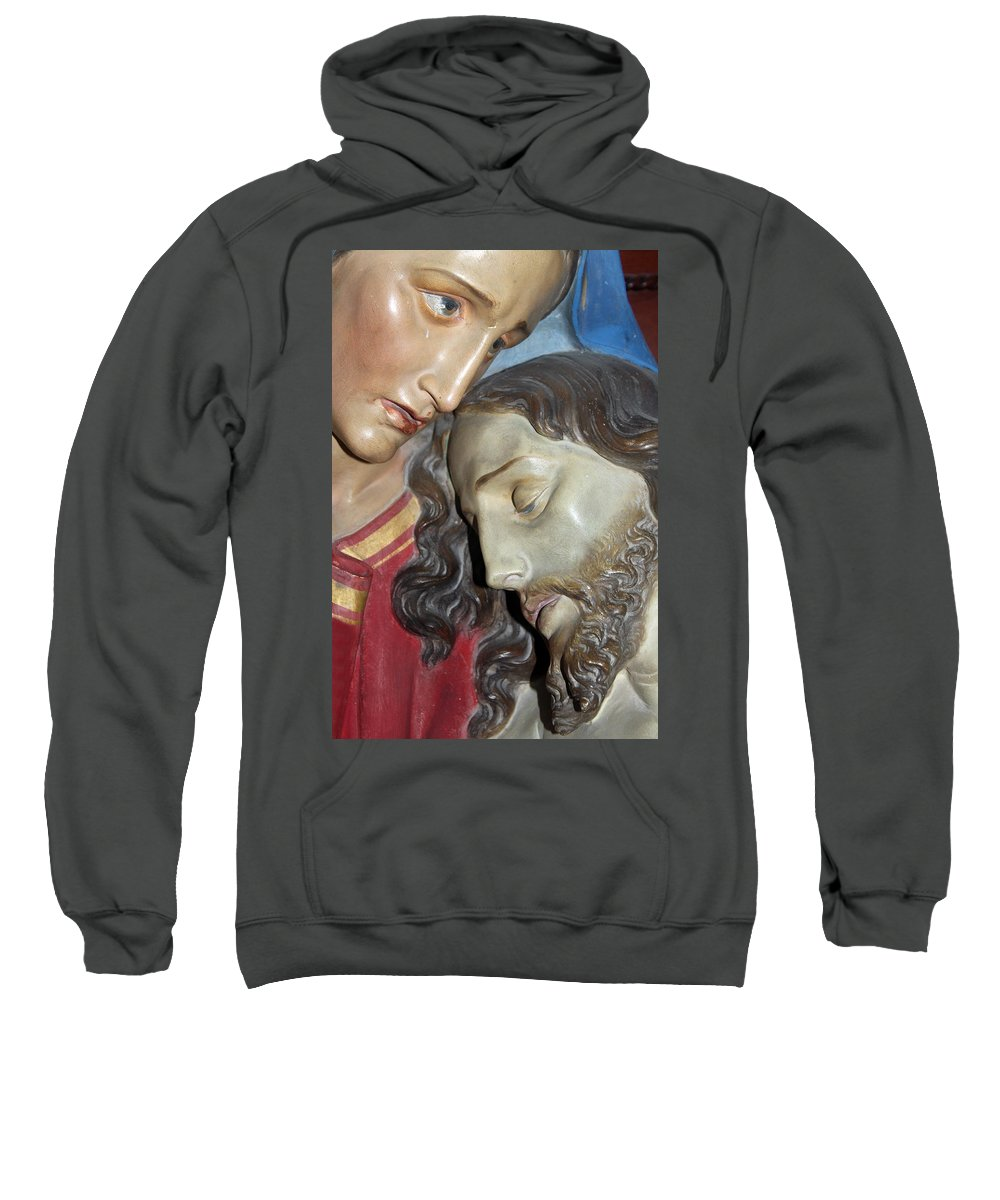 Mary Sweatshirt featuring the photograph Mary Tears by Munir Alawi