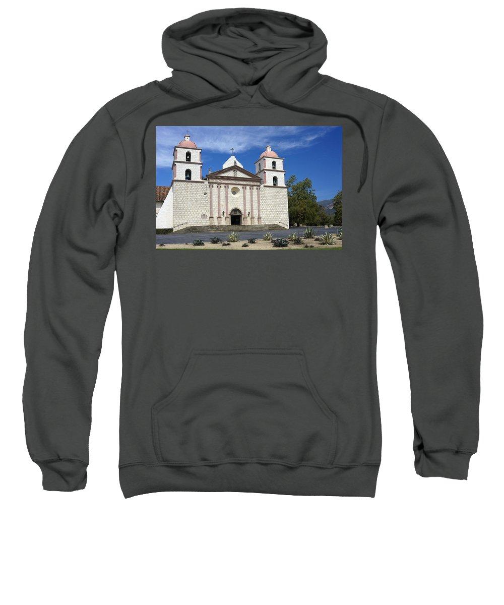 California Sweatshirt featuring the photograph Mission Santa Barbara by Michele Burgess