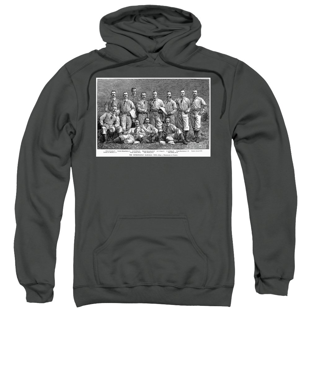 19th Century Sweatshirt featuring the photograph New York Baseball Team by Granger