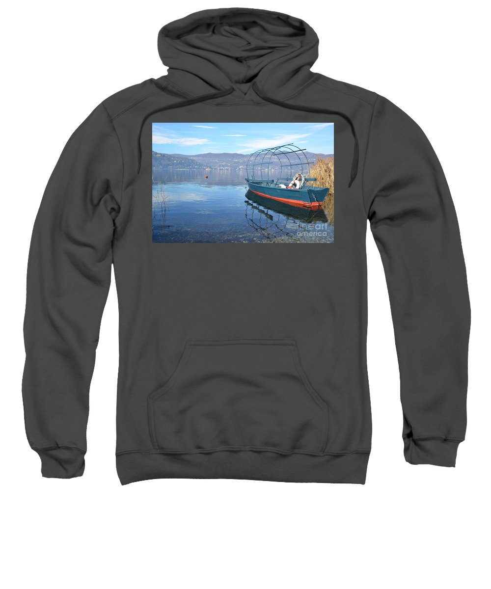 Fishing Sweatshirt featuring the photograph Old Fishing Boat by Mats Silvan