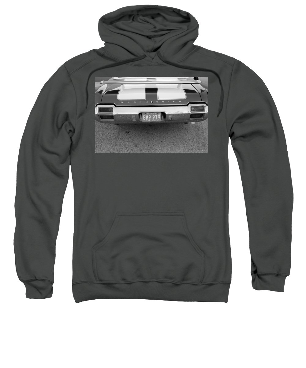 Oldsmobile Sweatshirt featuring the photograph Olds C S In Black And White by Rob Hans