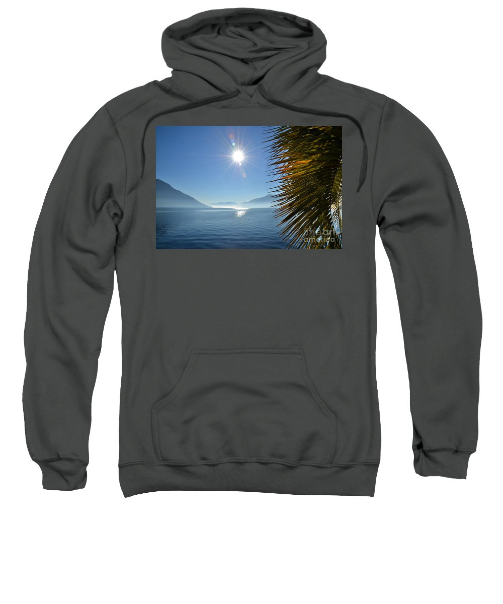 Palm Sweatshirt featuring the photograph Palm Leaves by Mats Silvan
