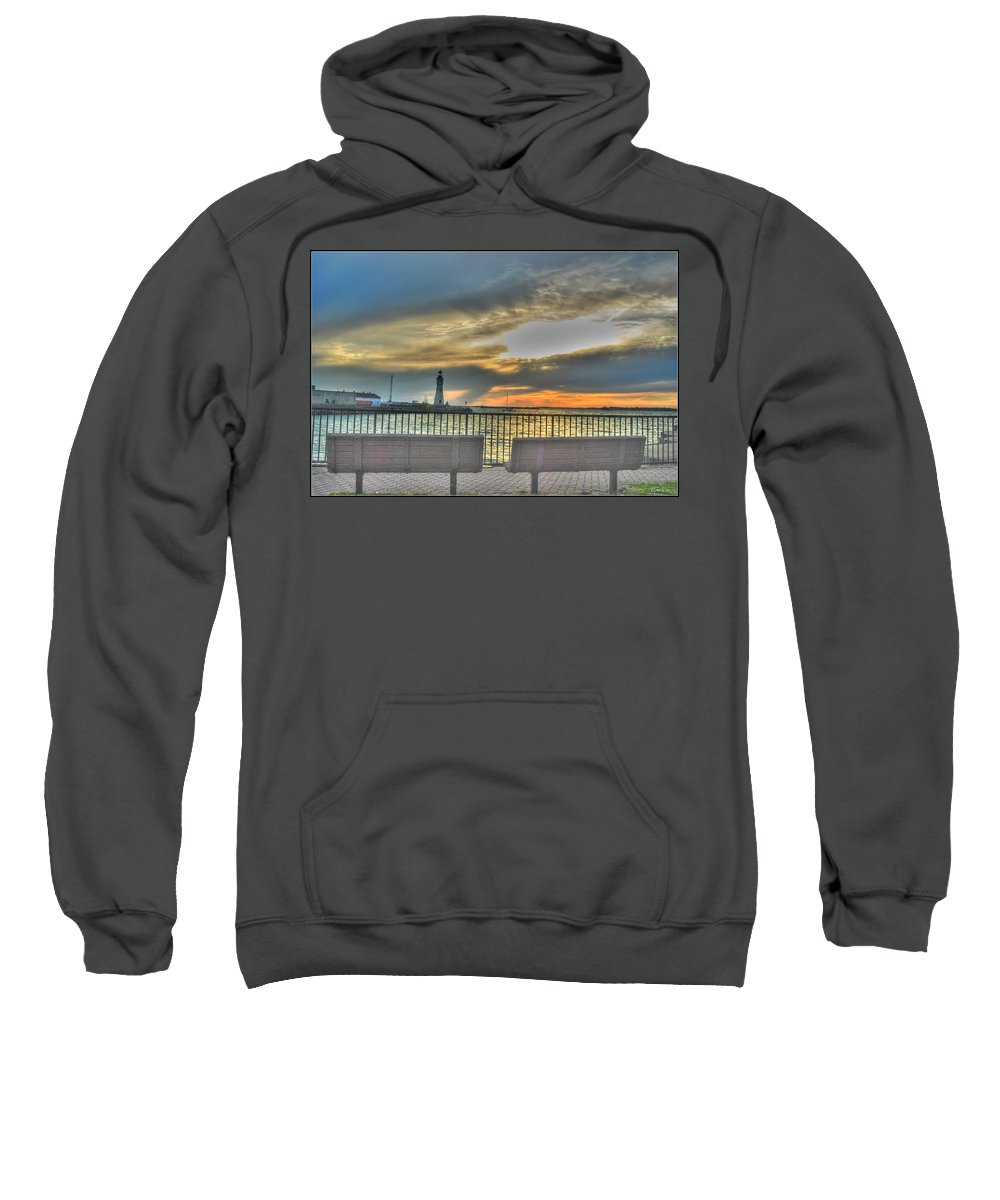 Sweatshirt featuring the photograph Patiently Waiting by Michael Frank Jr
