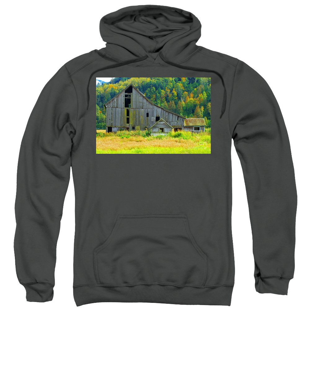 Barns Sweatshirt featuring the photograph Prest Road Barn by Randy Harris