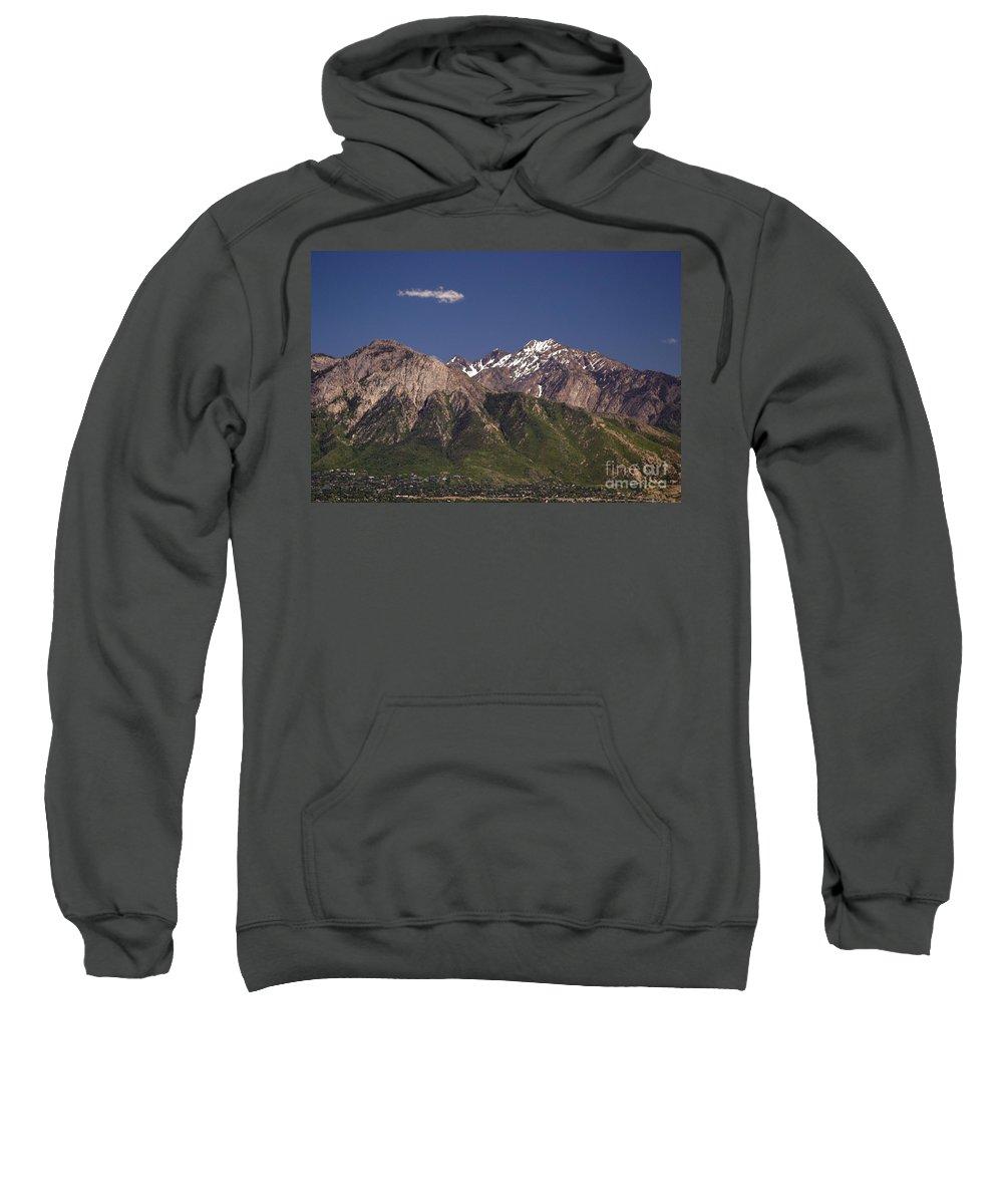 Salt Lake City Sweatshirt featuring the photograph Salt Lake City by Living Color Photography Lorraine Lynch