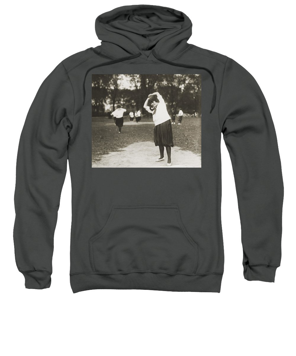 1930 Sweatshirt featuring the photograph Softball Game by Granger