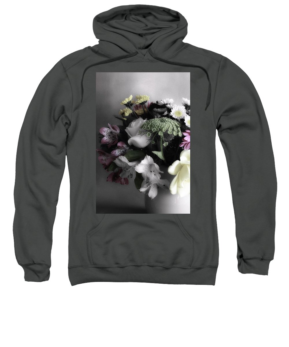 Digitally Hand Colored Sweatshirt featuring the photograph Spring Bouquet by Linda Dunn