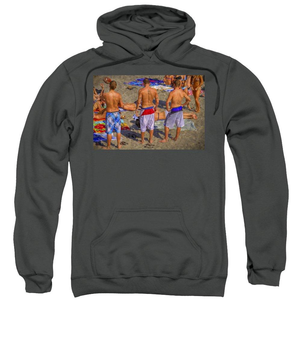 Deerfield Sweatshirt featuring the photograph Spring Break by Debra and Dave Vanderlaan