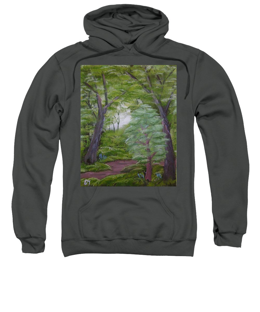 Landscape Sweatshirt featuring the painting Summer Morning by Charles and Melisa Morrison
