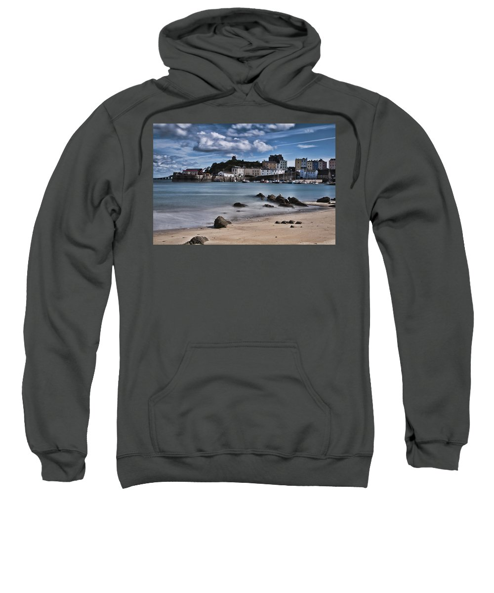 Tenby Harbour Sweatshirt featuring the photograph Tenby Harbour 2 by Steve Purnell