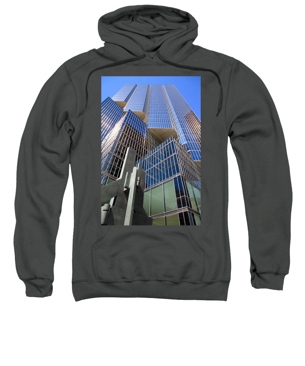 Modern Sweatshirt featuring the photograph Toronto Financial Core Buildings by Valentino Visentini