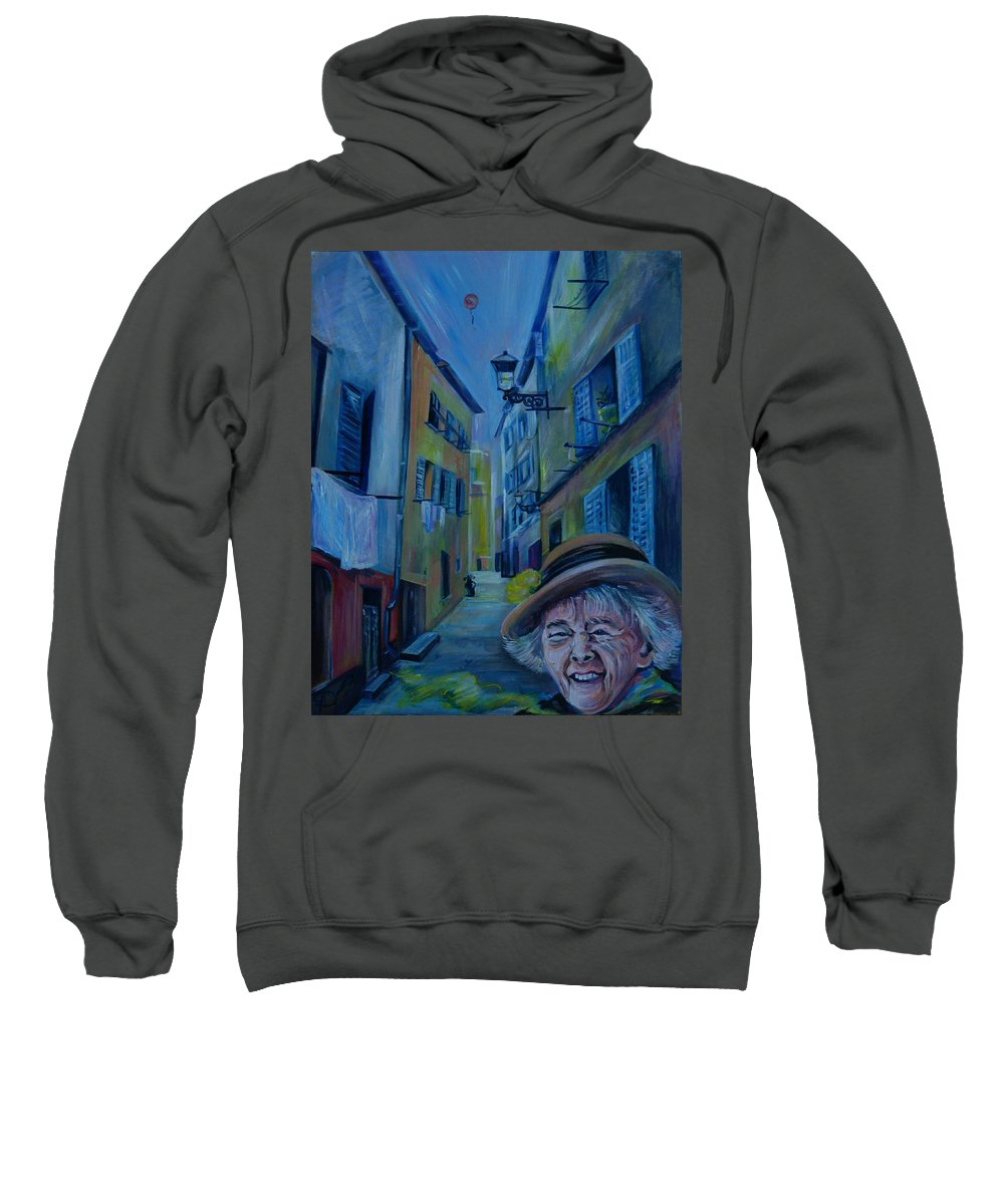 Travel Sweatshirt featuring the painting Travel Notebook. Old Nice by Anna Duyunova