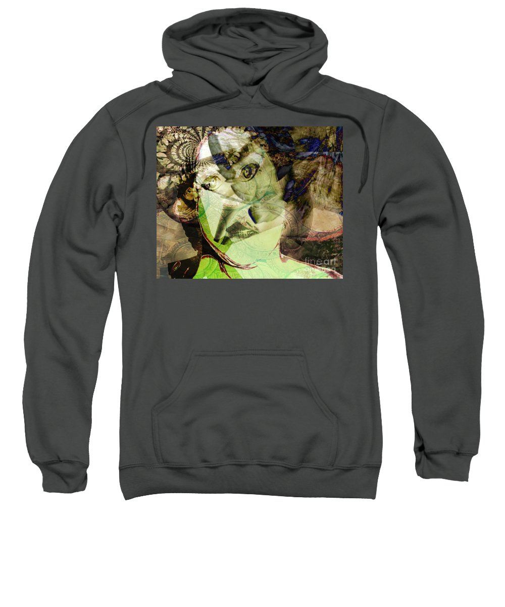 Fania Simon Sweatshirt featuring the mixed media Vanity by Fania Simon