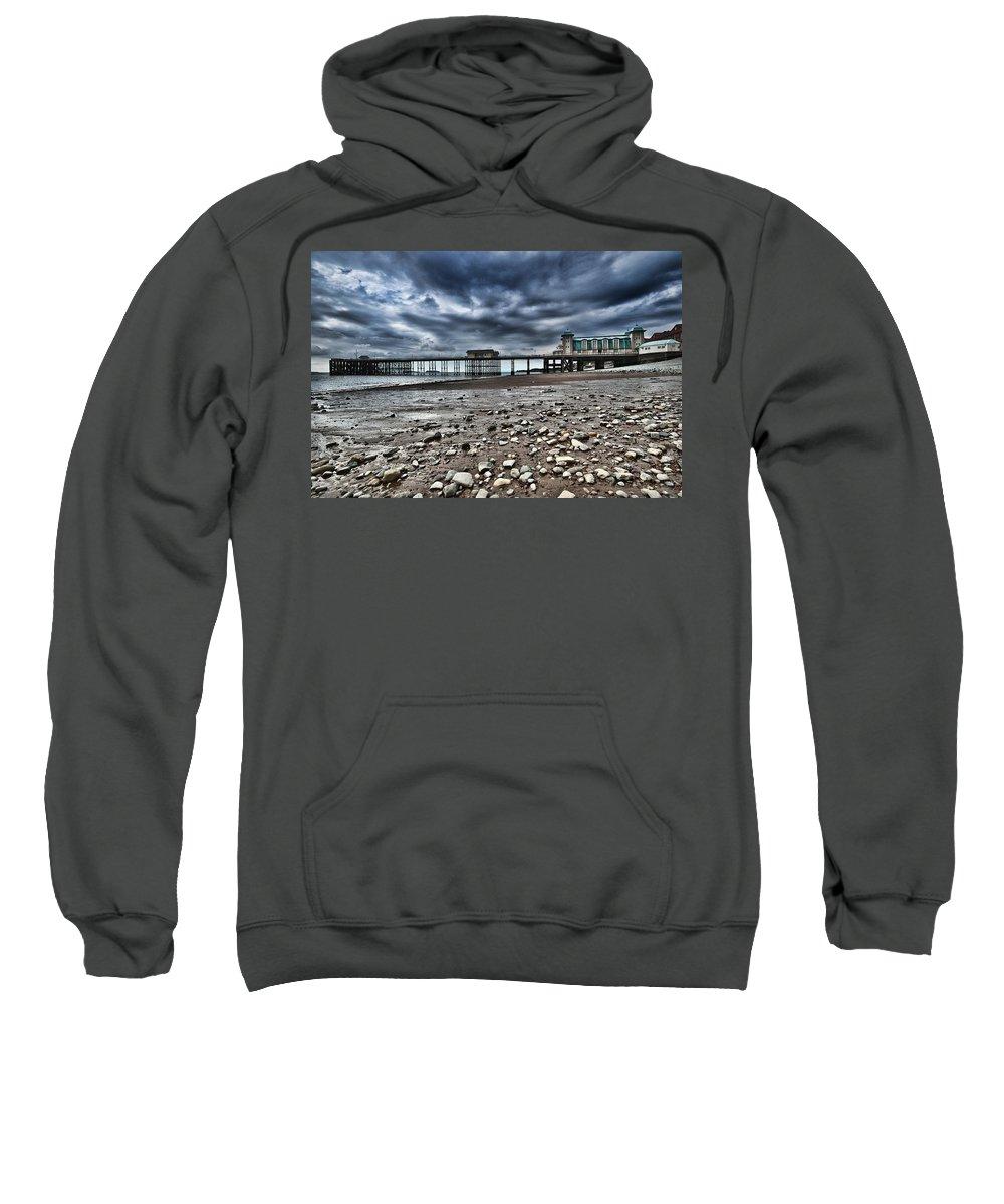 Penarth Pier Sweatshirt featuring the photograph Penarth Pier by Steve Purnell