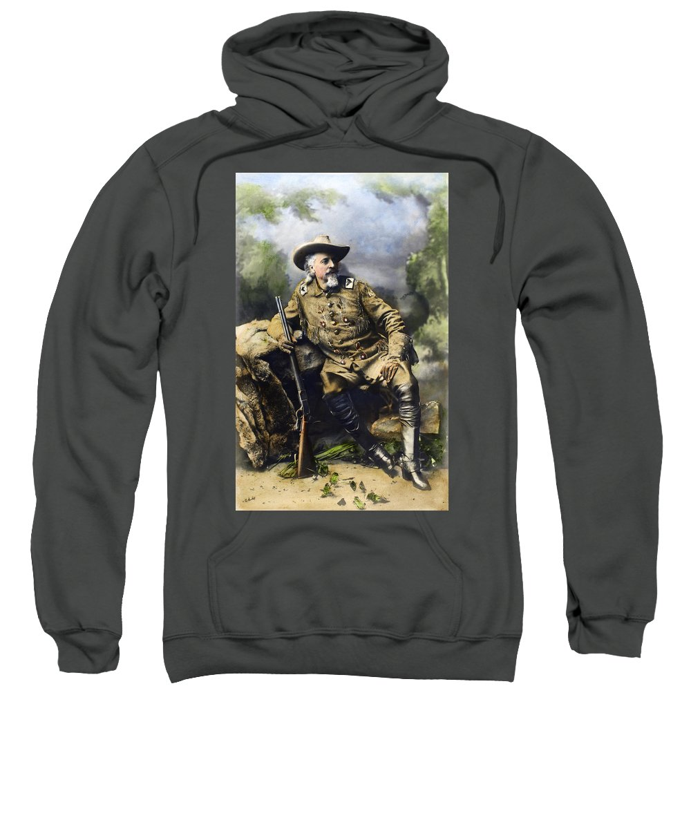 1900 Sweatshirt featuring the photograph William F. Cody (1846-1917) by Granger