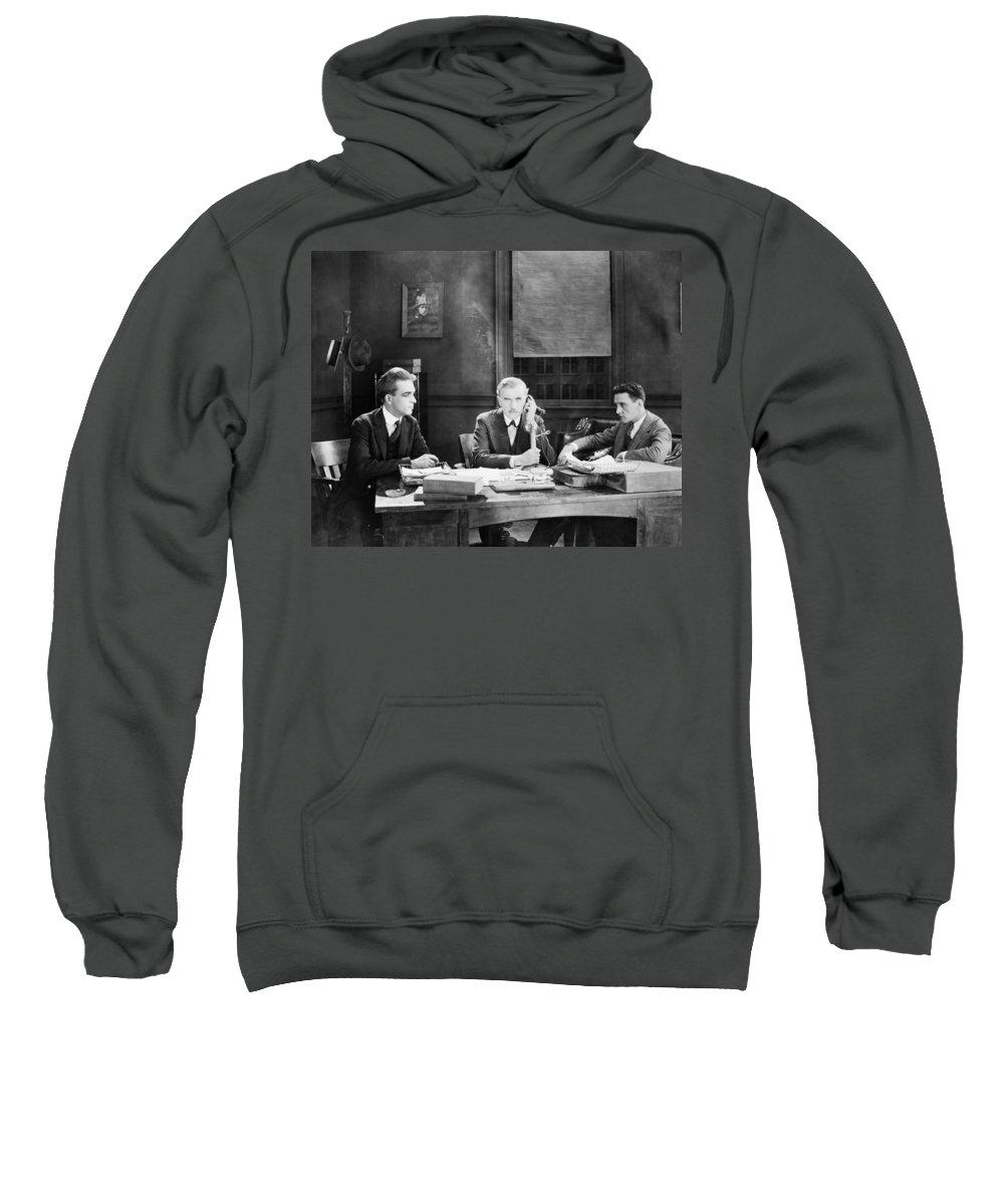 -telephones- Sweatshirt featuring the photograph Film Still: Telephones by Granger