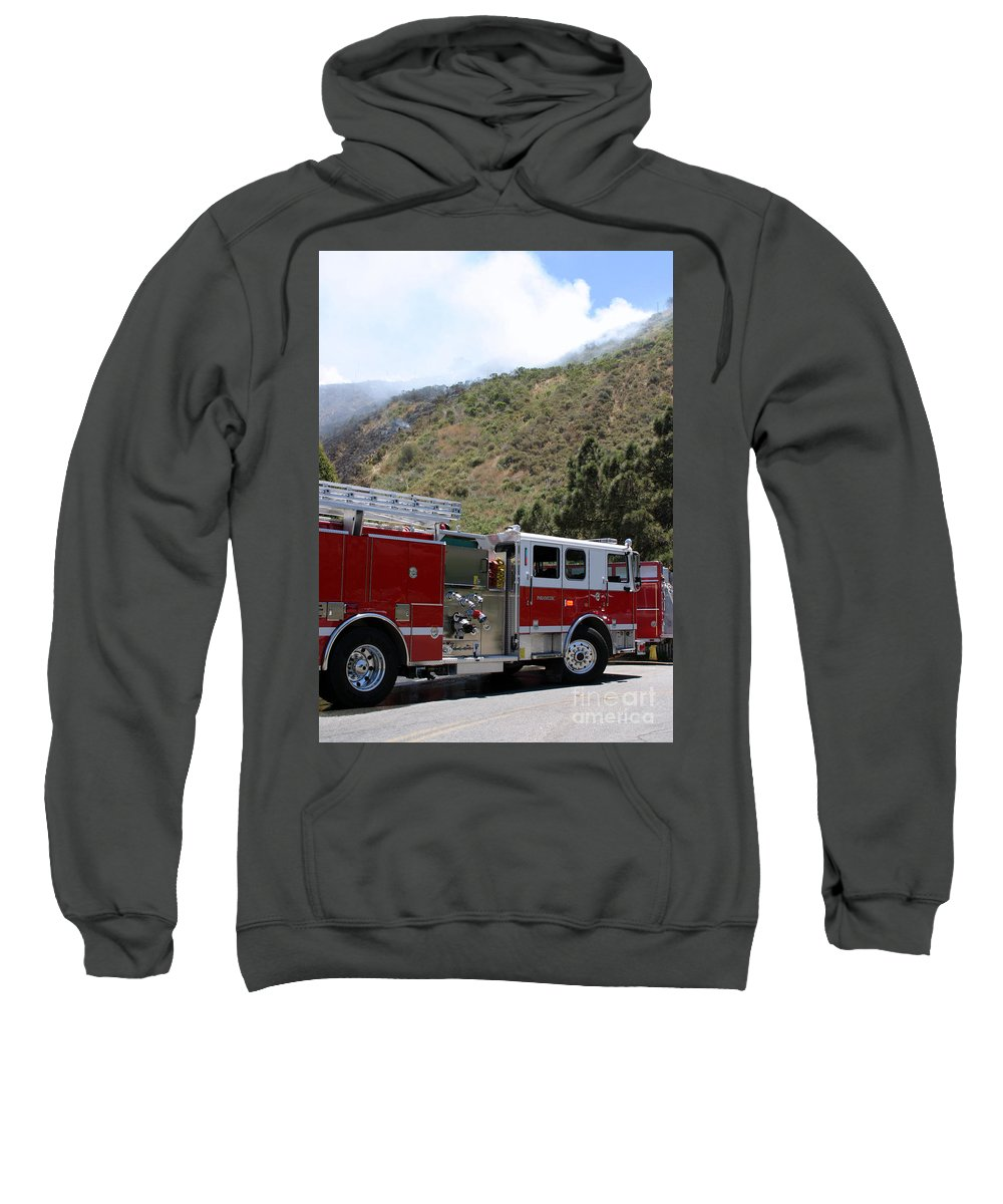 Ash Sweatshirt featuring the photograph Barnett Fire by Henrik Lehnerer