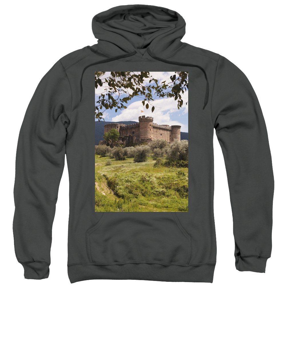 Alburquerque Sweatshirt featuring the photograph 15th Century Castle Of The Duke Of by Ken Welsh