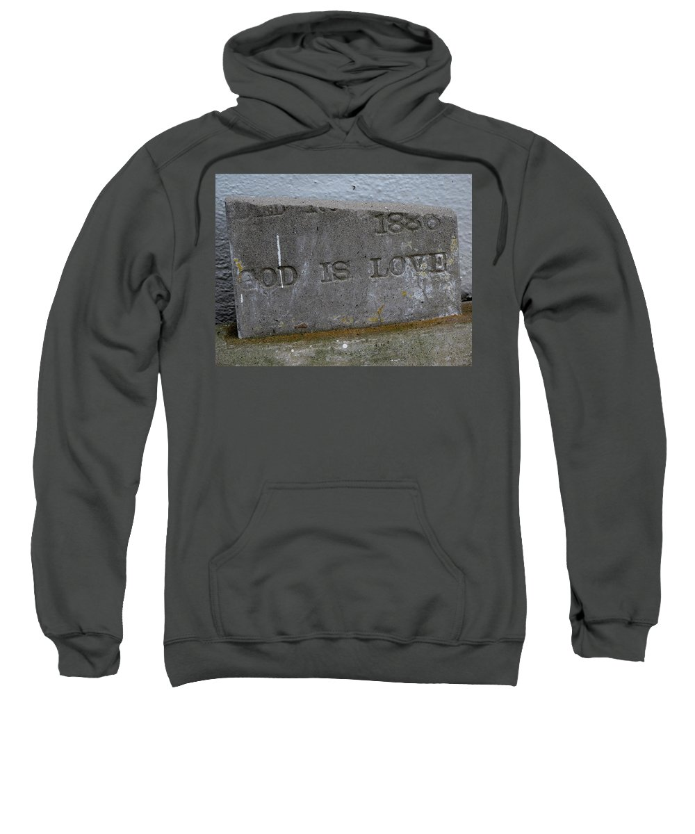 Sweatshirt featuring the photograph 1886 God Is Love Stone by Michele Nelson