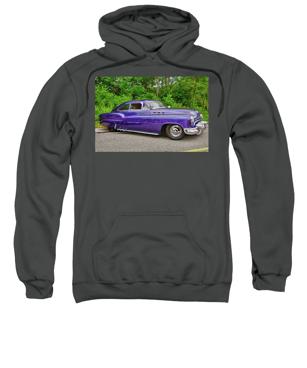 1956 Buick Lead Sled Sweatshirt featuring the photograph 1956 Buick  7767 by Guy Whiteley