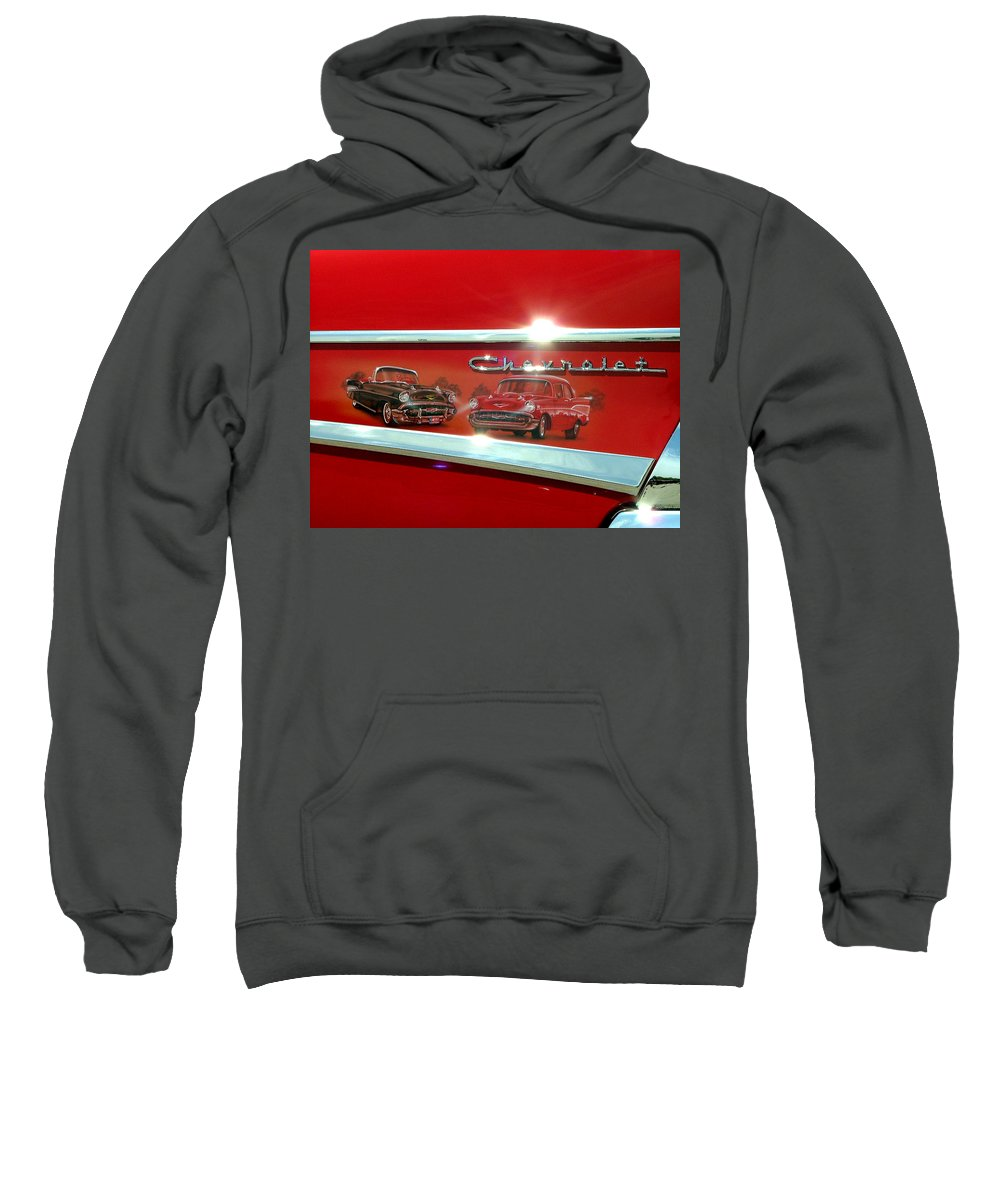 1957 Sweatshirt featuring the photograph 1957 Chevrolet by Dennis Pintoski