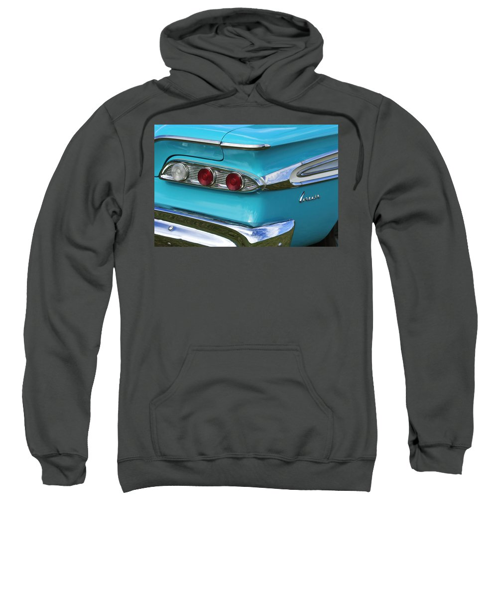 1959 Edsel Corvair Sweatshirt featuring the photograph 1959 Edsel Corvair Taillights by Jill Reger