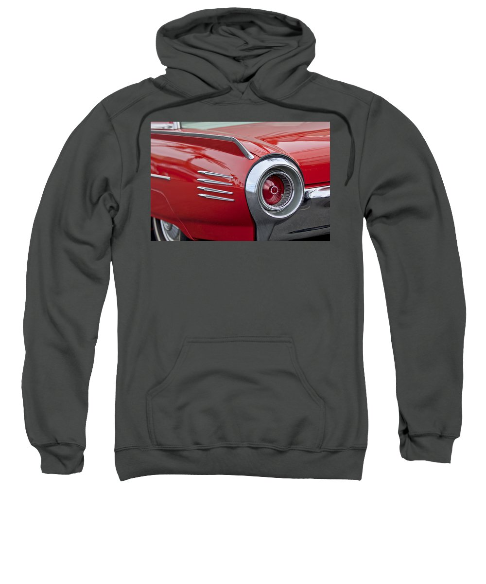 1961 Ford Thunderbird Sweatshirt featuring the photograph 1961 Ford Thunderbird Taillight by Jill Reger