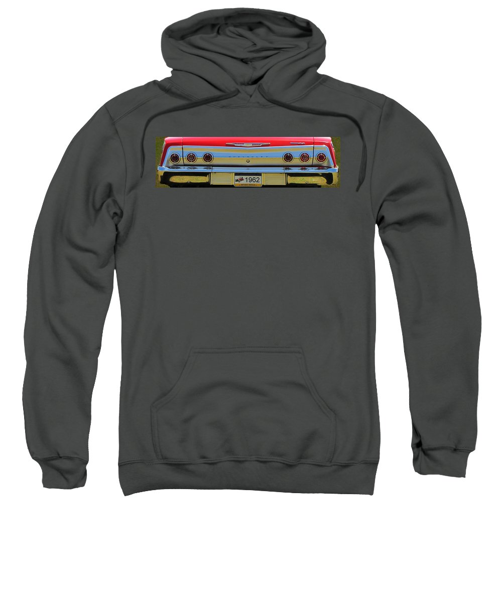 Car Sweatshirt featuring the photograph 1962 Chevy Impala Ss by David Dehner