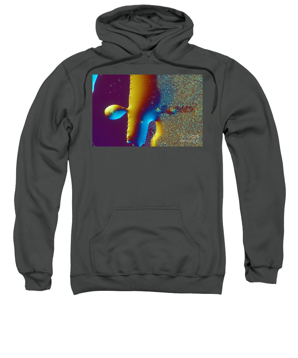 Chemistry Sweatshirt featuring the photograph Buckyball Crystal by Michael W. Davidson