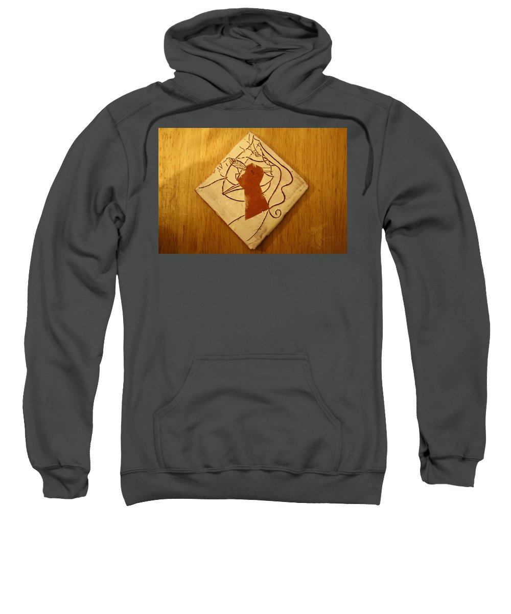 Jesus Sweatshirt featuring the ceramic art Centres - Tile by Gloria Ssali