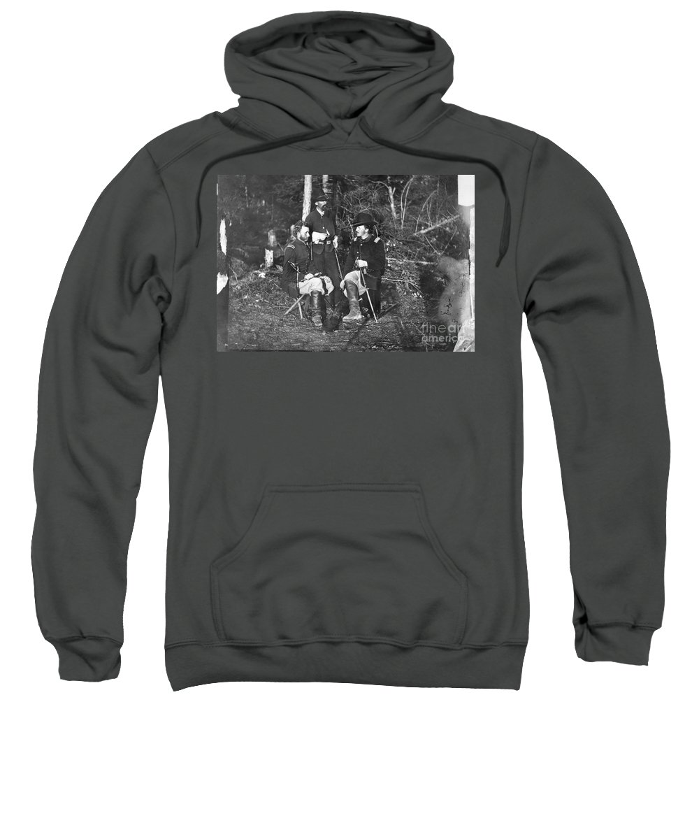 1862 Sweatshirt featuring the photograph Civil War: Custer, 1862 by Granger