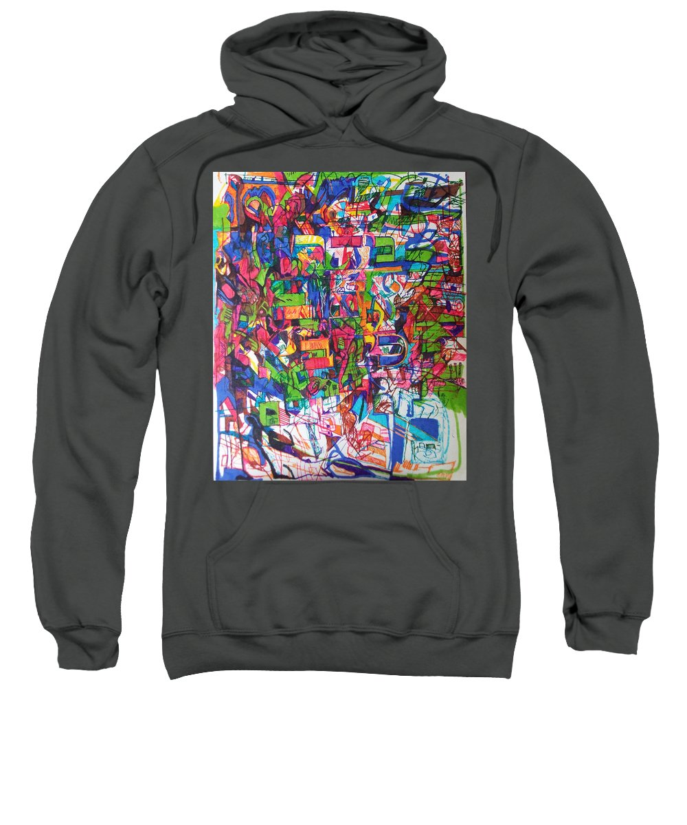 Jewish Art Sweatshirt featuring the drawing Hasten My Beloved For The Appointed Time Has Come by David Baruch Wolk