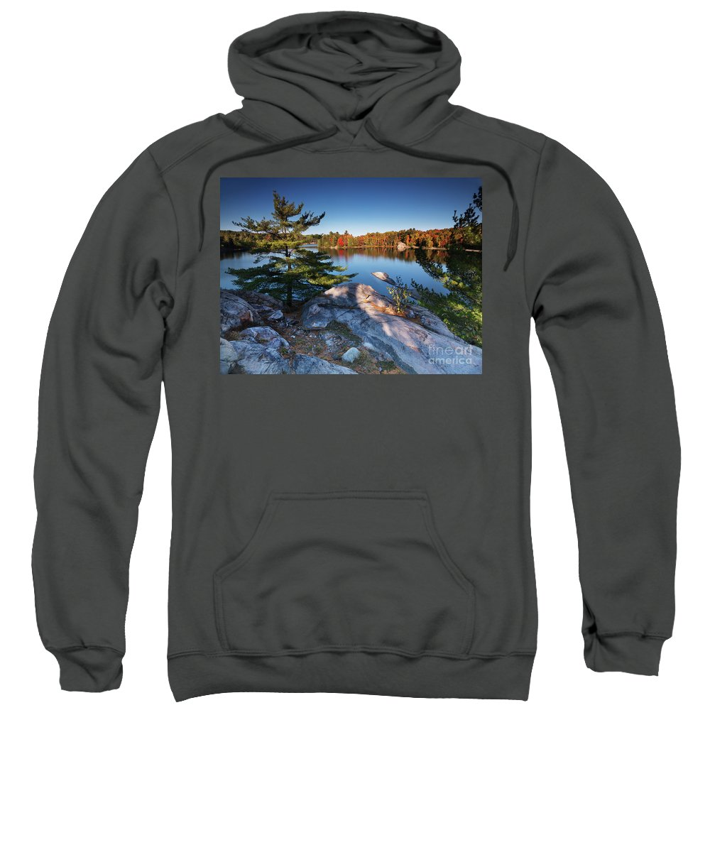 Lake Sweatshirt featuring the photograph Lake George At Killarney Provincial Park In Fall by Oleksiy Maksymenko