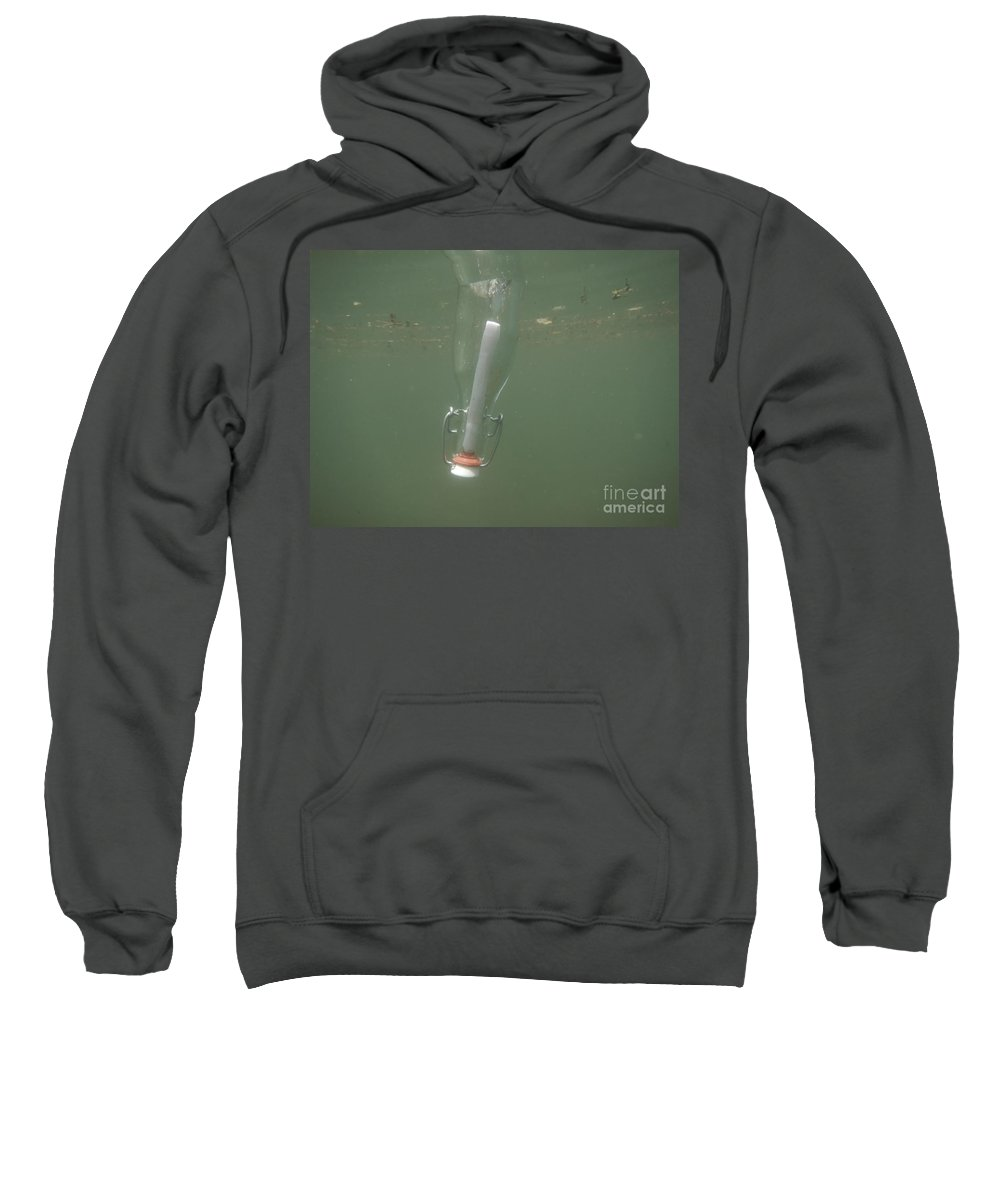 Message Sweatshirt featuring the photograph Message In A Bottle by Mats Silvan