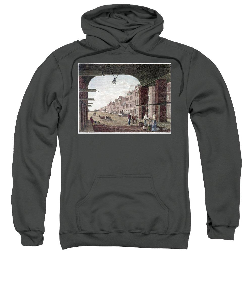 1797 Sweatshirt featuring the photograph Philadelphia: High Street by Granger