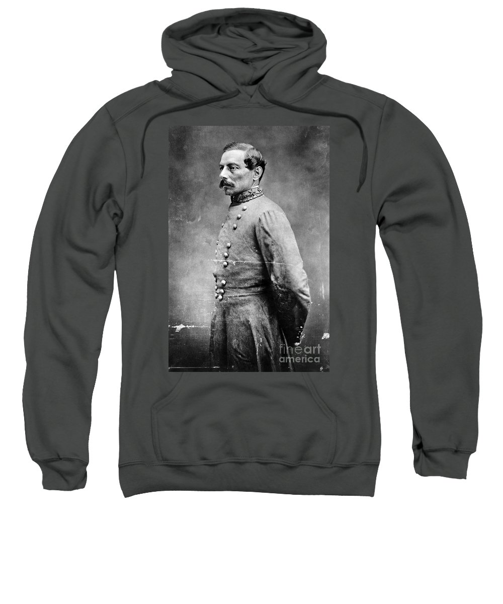 1860s Sweatshirt featuring the photograph Pierre G.t.de Beauregard by Granger
