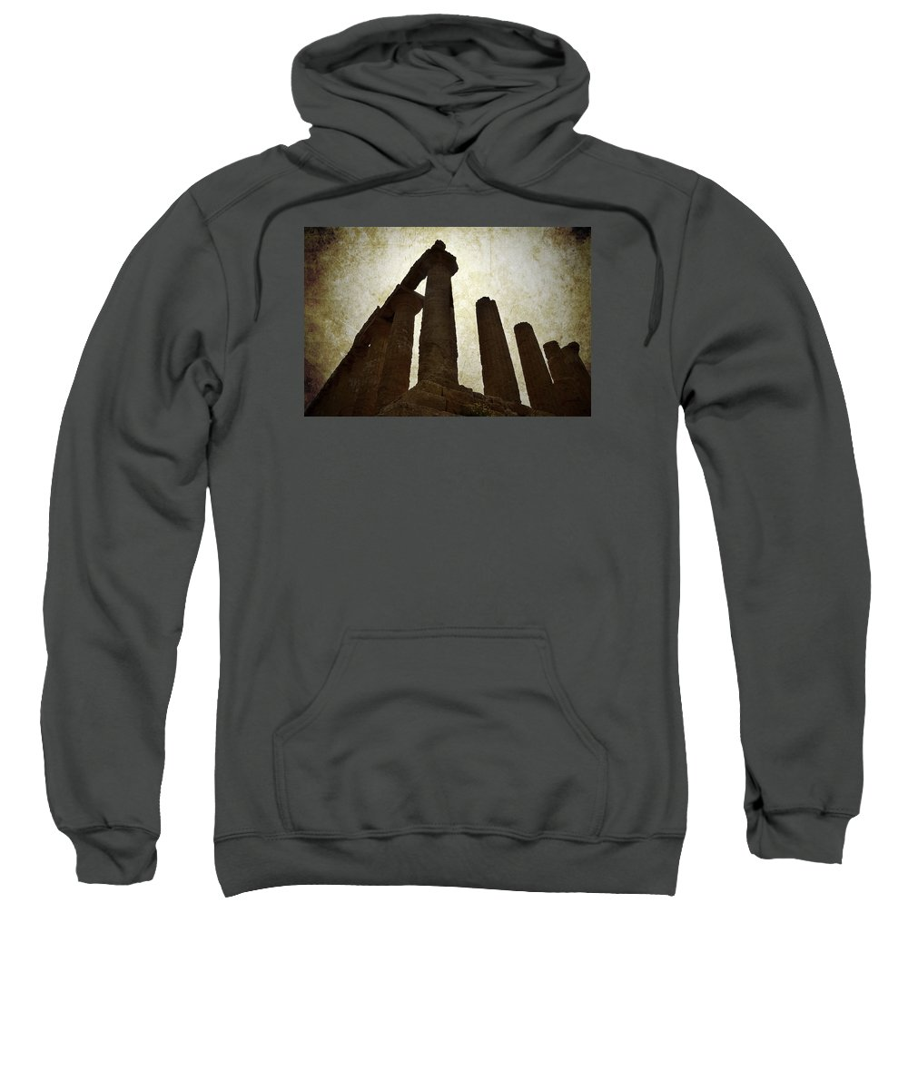 Temple Sweatshirt featuring the photograph Temple Of Juno Lacinia In Agrigento by RicardMN Photography