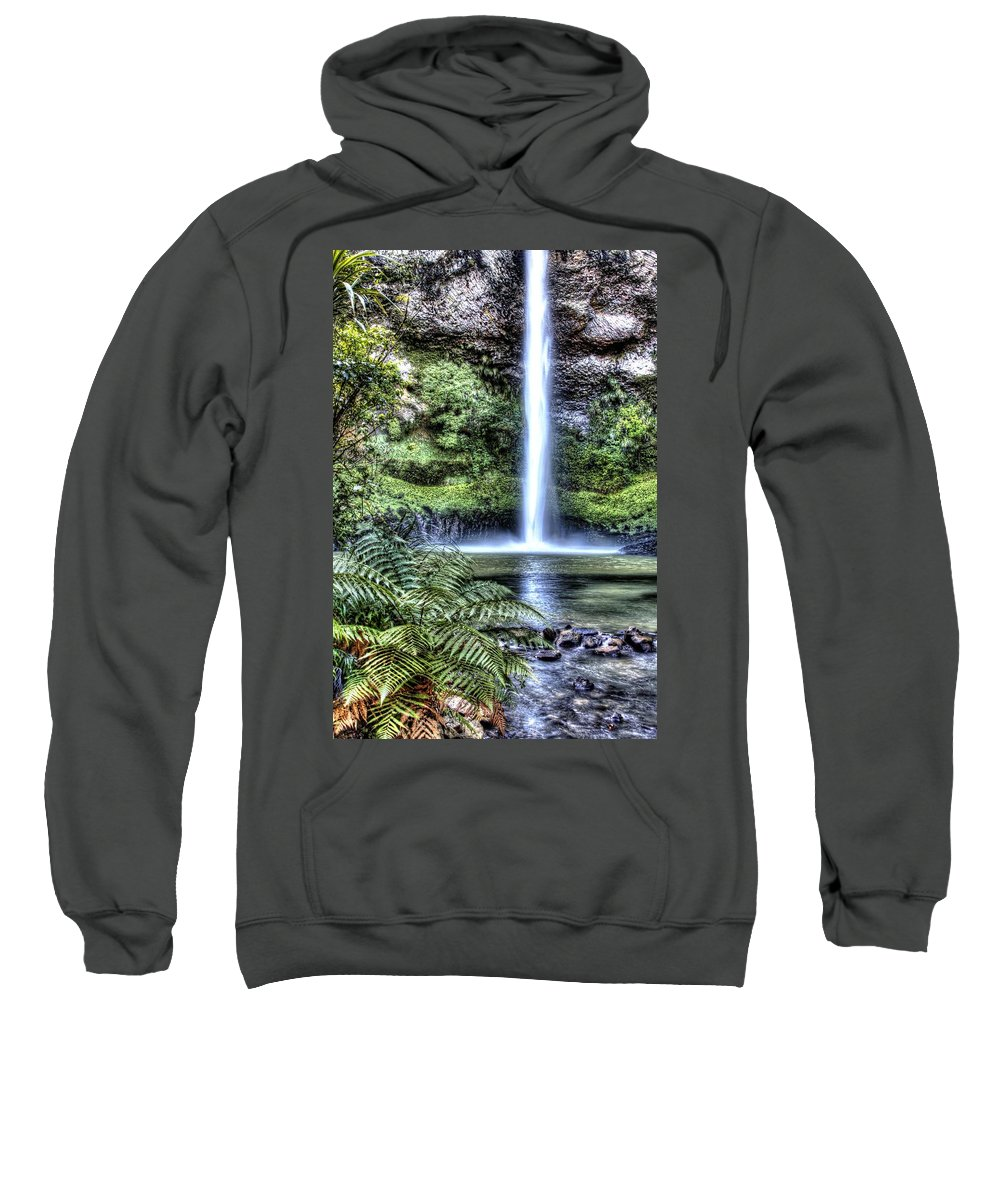 Cascade Sweatshirt featuring the photograph Waterfall by Les Cunliffe