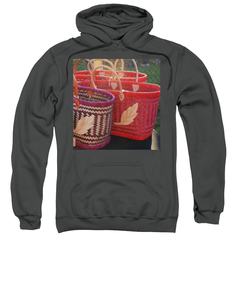 Baskets Sweatshirt featuring the photograph 3 Baskets by Rob Hans