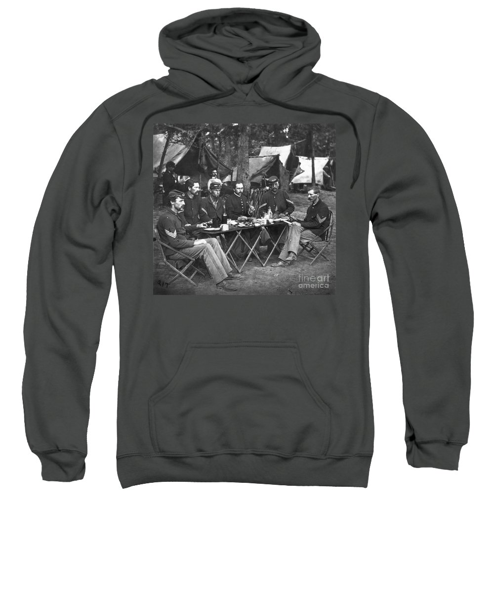 1863 Sweatshirt featuring the photograph Civil War Soldiers by Granger